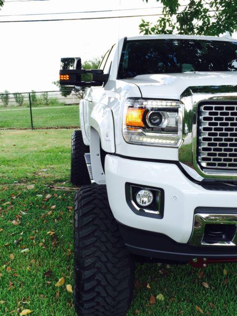 1gt120E88FF614295 - 2015 GMC SIERRA DENALI 2500HD DURAMAX 6.6L Diesel Custom Lift kit SEMA TRUCK