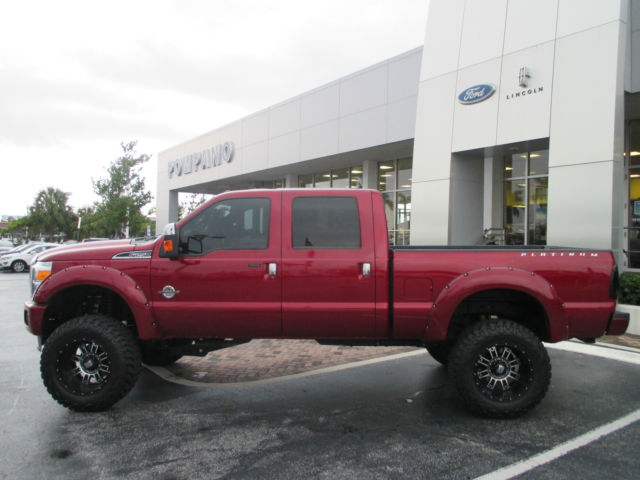 Lifted 6.7 Powerstroke For Sale >> 1FT7W2BTXFEC31080 - 2015 LIFTED FORD F250 PLATINUM CREW CAB DIESEL 4X4