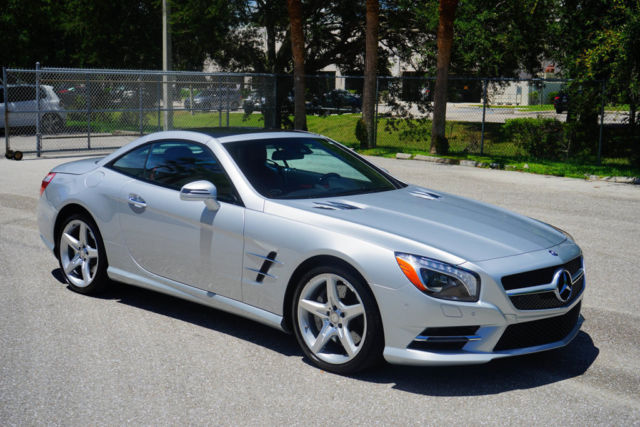 Wddjk6fa2ff033983 2015 mercedes benz sl400 silver red for Mercedes benz boca raton