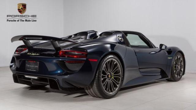 Wp0ca2a15fs800268 2015 Porsche 918 Spyder 817 Miles Dark Blue