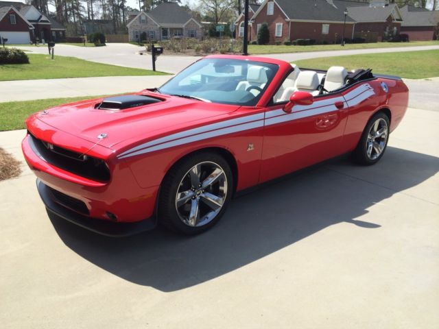 2c3cdzfj1fh803656 2015 Red Custom Challenger Convertible