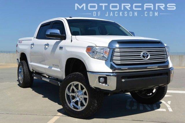 2015 Tundra 4WD 4x4 6 Lift Fuel Wheels White TRD Rough ...