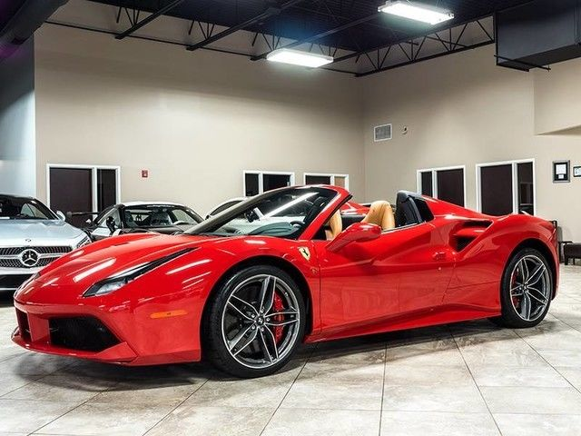 zff80ama1g0217435 2016 ferrari 488 spider only 82 miles brand new daytona style seats loaded red. Black Bedroom Furniture Sets. Home Design Ideas