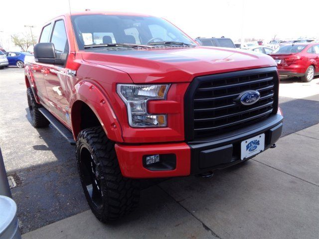 1ftew1eg1gkd72395 2016 ford f 150 6 dsi lift kit supercrew 4x4 927 miles race red crew cab pickup - Red Ford F150 Lifted