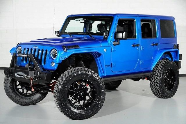 1c4hjwfg9gl219751 2016 Jeep Wrangler Rubicon Lifted Blue