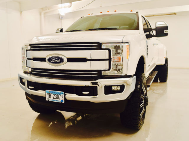 Lifted 2017 F350 Dually >> 1FT8W3DT3HEC01719 - 2017 F350 LIFTED POWERSTROKE DIESEL DUALLY READY TO ROCK!