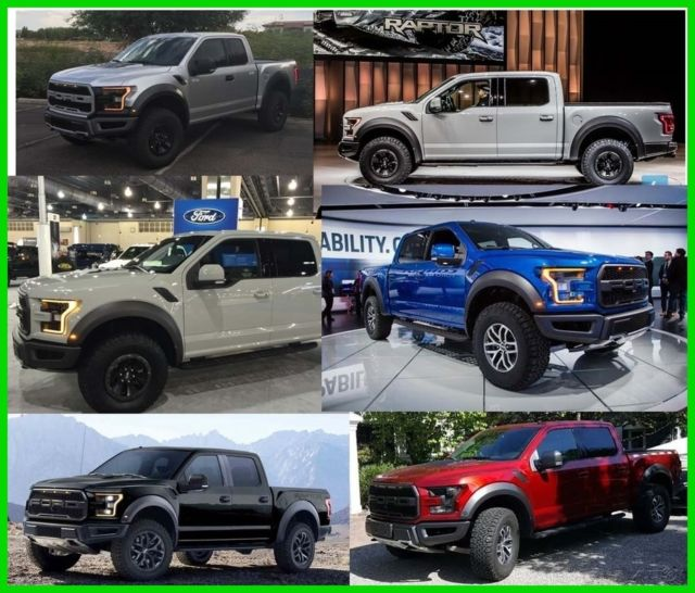 2017 Ford F-150 Raptor Crew Cab Blue