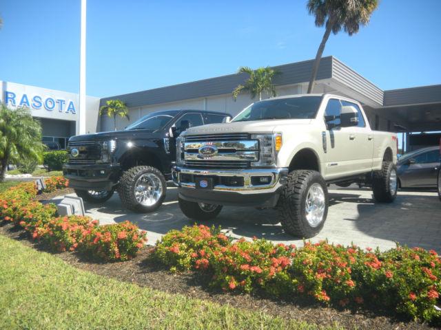 1ft7w2bt8heb26847 2017 ford f 250 diesel 4x4 white gold custom truck 22 wheels lift kit loaded. Black Bedroom Furniture Sets. Home Design Ideas