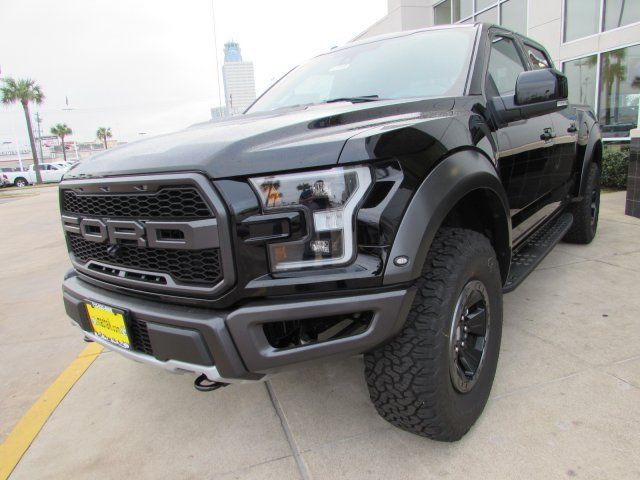 1ftfw1rg1hfa24881 2017 Ford F150 Raptor 5 Miles Shadow Black Crew Cab Luxury Pkg Nav Roof