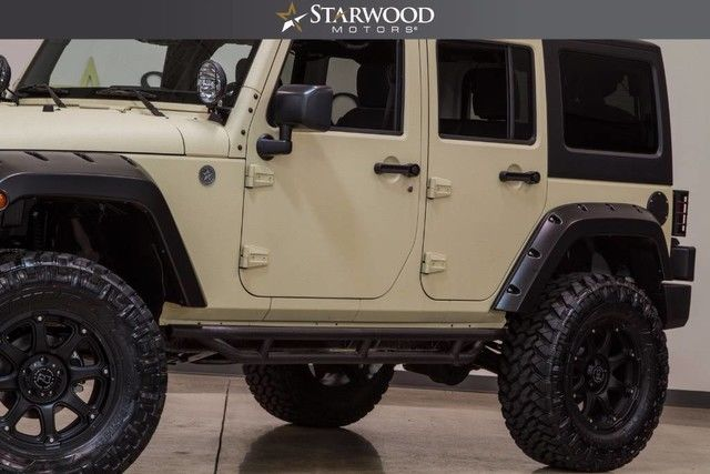 1c4hjwdg8hl536358 2017 jeep wrangler unlimited sport tan black lifted custom wheels tires. Black Bedroom Furniture Sets. Home Design Ideas