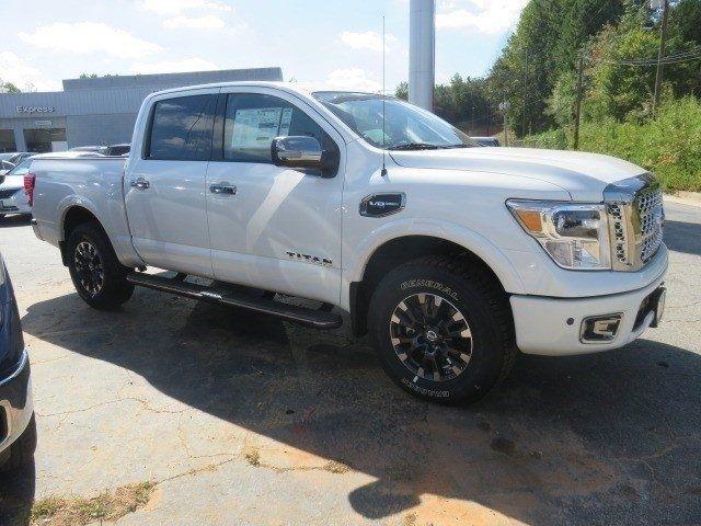 1n6aa1e51hn505360 2017 nissan titan platinum reserve 11 miles pearl white crew cab pickup regular. Black Bedroom Furniture Sets. Home Design Ideas