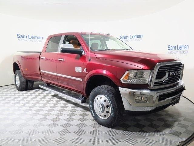 3c63rrkl4hg614529 2017 ram 3500 laramie longhorn 4x4 crew cab 8 39 box 0 miles red pickup truck cumm. Black Bedroom Furniture Sets. Home Design Ideas