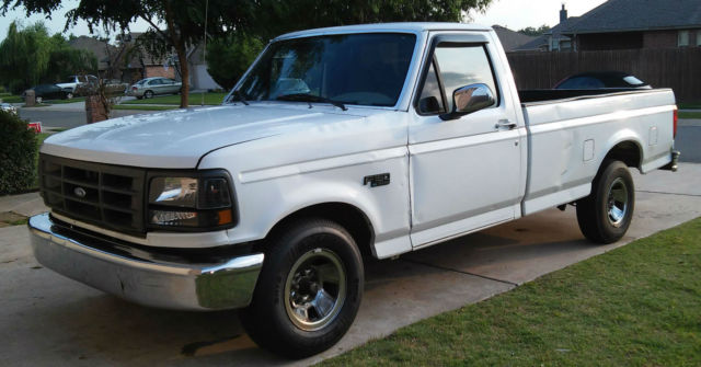 Ford F Pickup Truck Xl Long Bed Auto Trans L Gas No Reserve F on 1996 Ford F 150 Front Rotor
