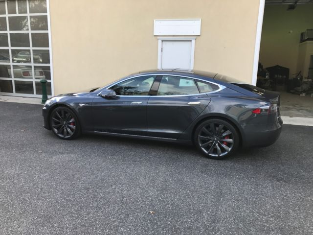 Tesla P90d For Sale >> 5YJSA1E43GF147822 - Barely Used - Mint Condition 2016 Tesla Model S P90D - Midnight Silver Metallic
