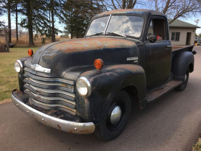 Barn Find 1951 Chevrolet 3100 1 2 Ton Pickup Truck Patina