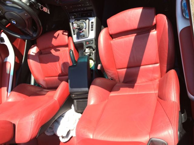 Wbsbr93403pk01290 Bmw E46 2003 M3 Imola Red With Red Interior Convertible Smg Nav No Reserve