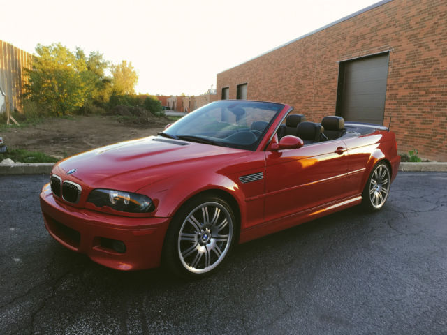 wbsbr93463pk03321 bmw e46 m3 6mt convertible imola red