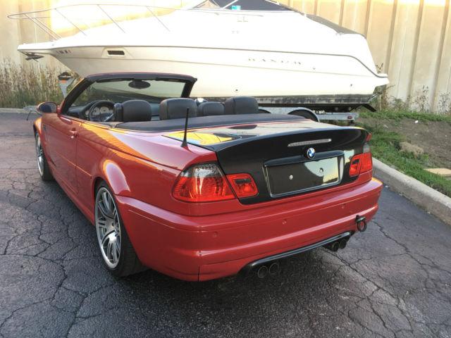 Black bmw convertible red interior