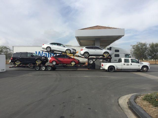 1ft8w3ctxdea13291 car hauler ford f 350 and kaufman easy 4 car trailer