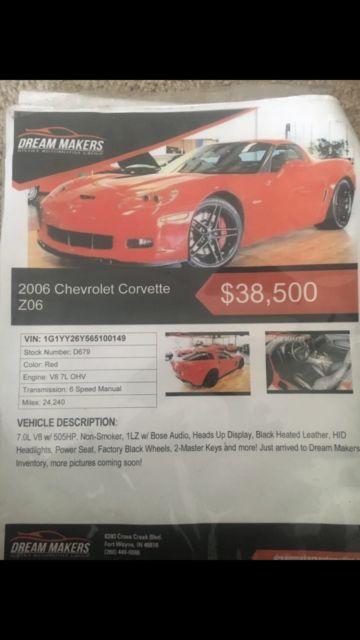1g1yy26y565100149 - chevrolet corvette zo6 vengeance racing modds
