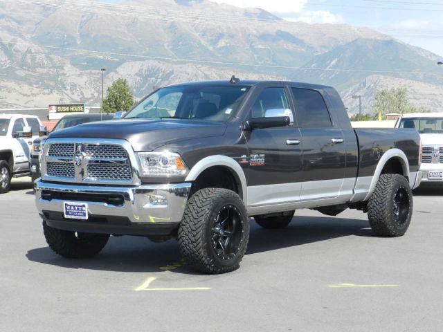 3c6ur5nl5fg520388 dodge ram mega cab laramie 4x4 cummins diesel custom lift wheels tires leather. Black Bedroom Furniture Sets. Home Design Ideas
