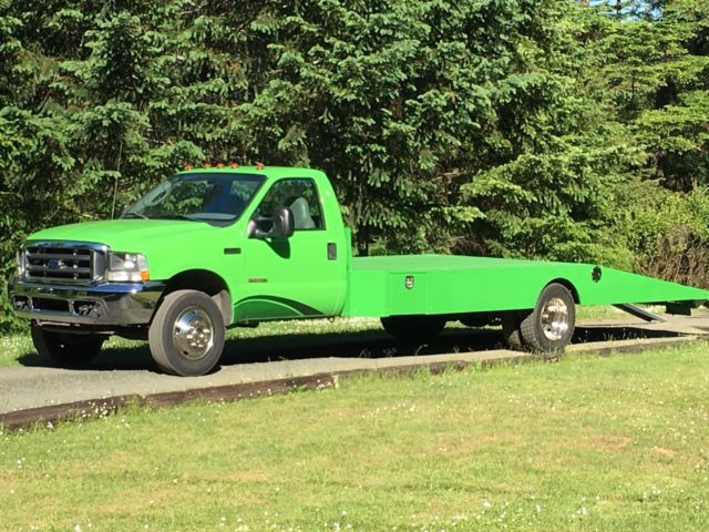 Ford F450 Car Hauler Ramp Truck Diesel 6speed Bed Is New No