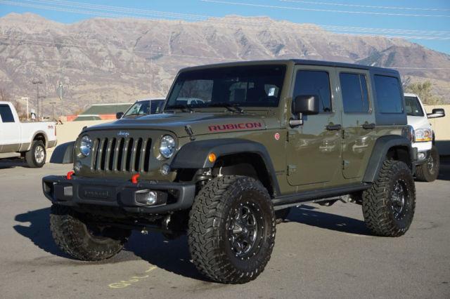 1c4hjwfg7fl569166 jeep wrangler rubicon 4 door hardtop 4x4 custom lift wheels tires leather tow. Black Bedroom Furniture Sets. Home Design Ideas