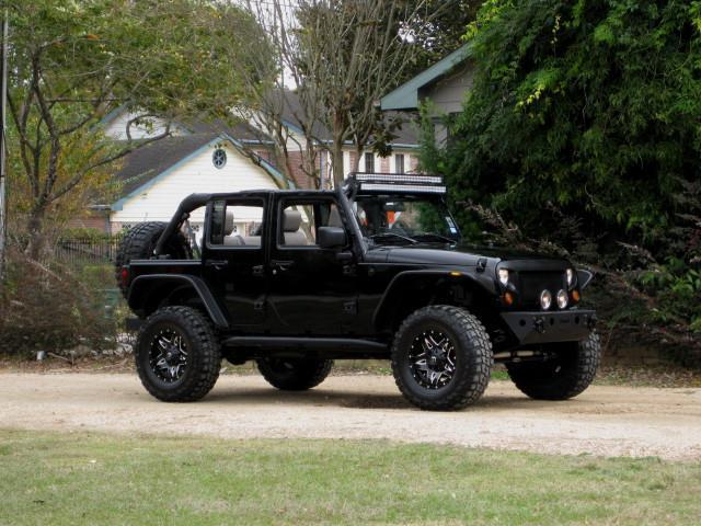 Jeep Wrangler V6 4x4 Unlimited Lifted Black Leather Seats Many Extras 1j4ga39138l566568