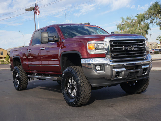 1gt12ze82ff120972 lifted truck built 2015 gmc sierra 2500 slt crew cab 4x4 custom slt diesel truck. Black Bedroom Furniture Sets. Home Design Ideas