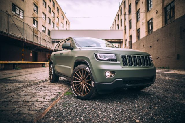 Matte Army Green 2013 Jeep Grand Cherokee Laredo V6 4wd Vossen Led Srt Parts Wk2