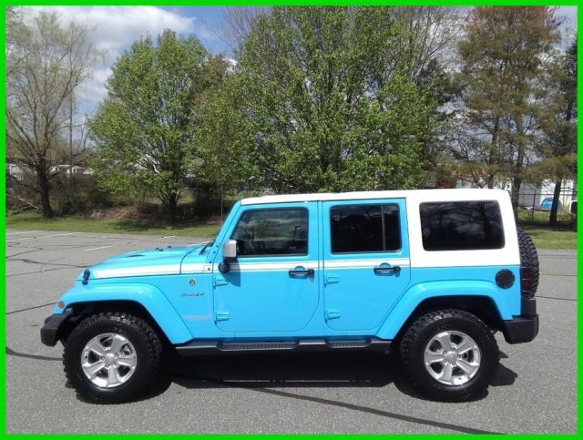 jeep wrangler chief blue for sale