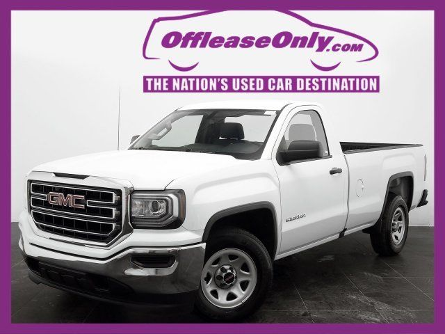 1gtn1lec3gz900923 off lease only white 2016 gmcsierra 1500 v8regular cab rwd with 16546 miles. Black Bedroom Furniture Sets. Home Design Ideas
