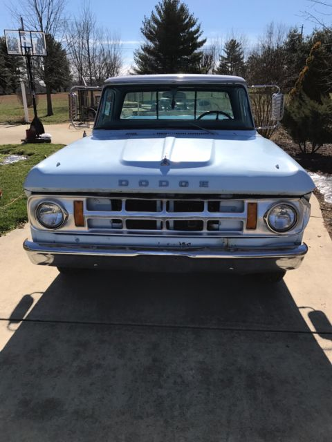 1969 Dodge Charger Rt: Rare 1969 Dodge D100 Shortbed