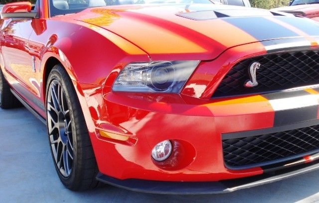 1zvbp8ks3b5102414 Shelby Gt500 Ford Mustang Convertible 2011 Red